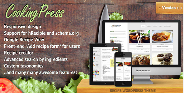 Cooking Press tema Themeforest