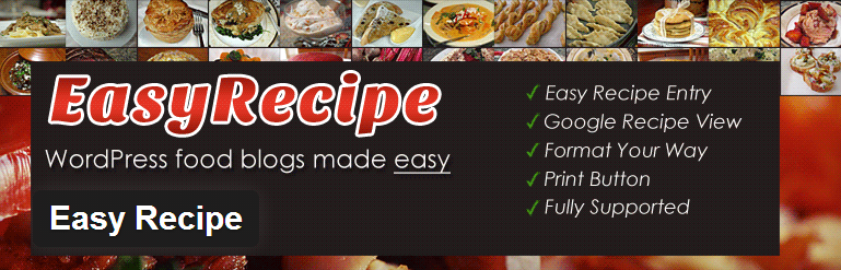 Easy recipe wordpress plugin
