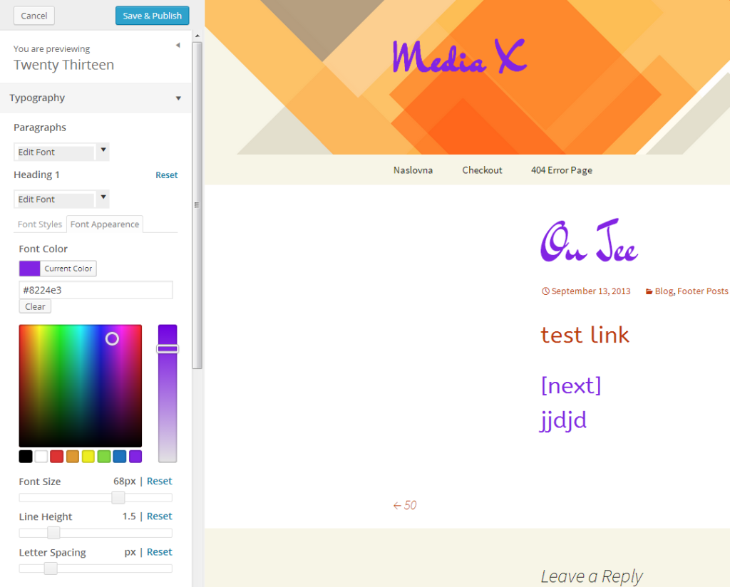 Easy google font boja i veličina