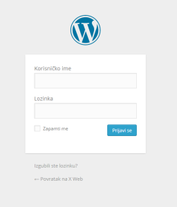 Wordpress zadani login box