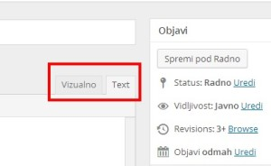 Wordpress text tab