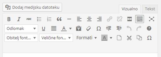 Kompletni tinyMCE editor u WordPressu
